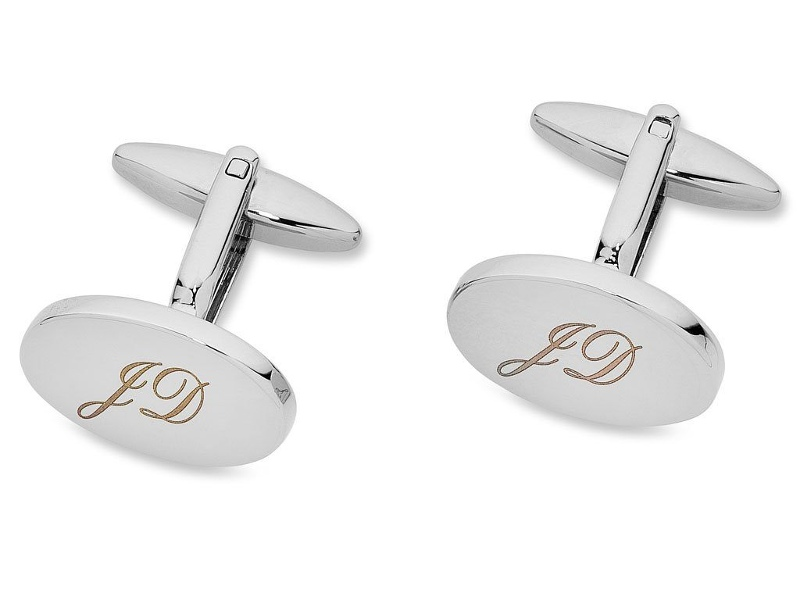 Personalised Mens Oval Cufflinks