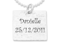 Bevilles Personalised Square Hammered Necklace