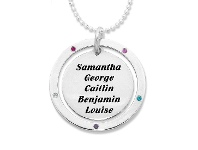 Bevilles Personalised Sterling Silver Disc Necklace