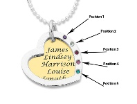 Bevilles Personalised 2 Tone Open Heart Necklace