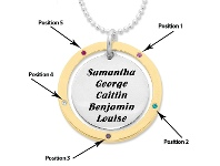 Bevilles Personalised 2 Tone Disc Necklace