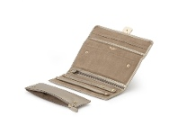 Bevilles Wolf Palermo Jewellery Roll Pewter