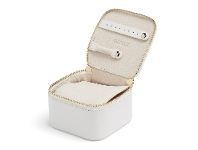Bevilles Wolf Maria Zip Jewellery Cube White