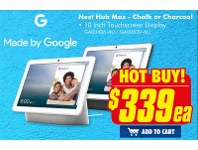 The Good Guys Made By Google Nest Hub Max - Chalk Or Charcoal