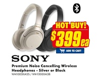 The Good Guys Sony Premium Noise Cancelling Wireless Headphones - Silver Or Black