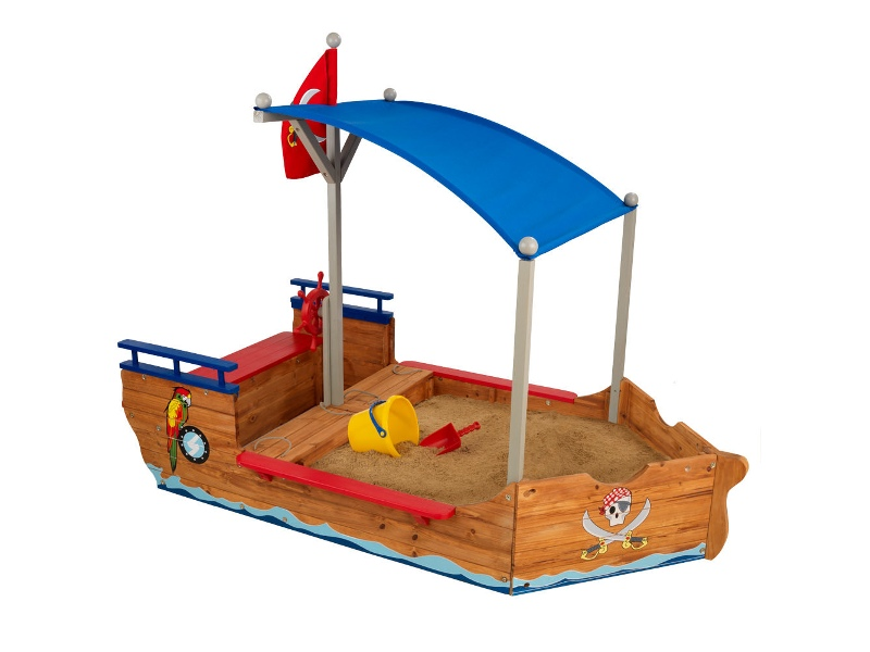 KidKraft Pirate Wooden Sandbox