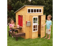 LivingStyles KidKraft Modern Wooden Outdoor Playhouse