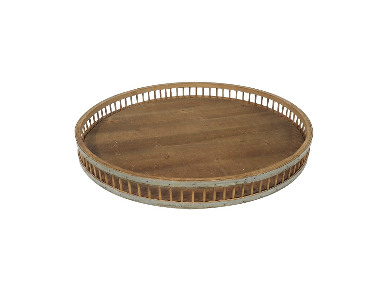 St. Avante Wooden Round Tray, Extra Large