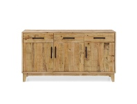 LivingStyles Portland Recycled Pine Timber 3 Door 3 Drawer 155cm Buffet Table