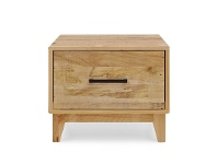 LivingStyles Portland Recycled Pine Timber Single Drawer Lamp Table