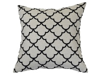 LivingStyles Margaret Linen Scatter Cushion Cover, Black