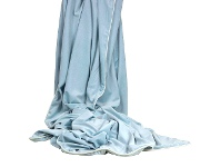 LivingStyles Rodeo Luxury Velvet Throw, Pale Blue