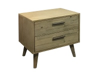 LivingStyles Ravina Acacia Timber Bedside Table