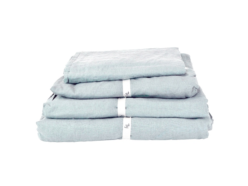 Taj French Linen Flat Sheet, King, Blue