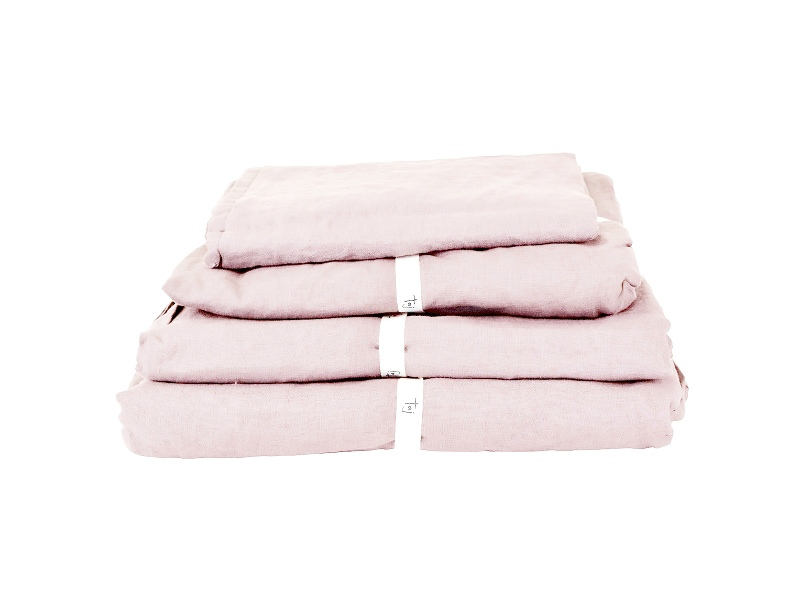 Taj French Linen Duvet Cover Queen Blush