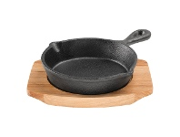 LivingStyles Pyrolux Pyrocast 13.5cm Skillet with Maple Tray