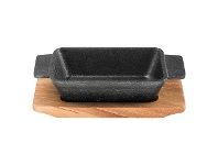 LivingStyles Pyrolux Pyrocast Rectangular Baker with Maple Tray