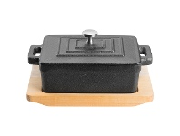 LivingStyles Pyrolux Pyrocast Rectangularf Casserole Dish with Maple Tray