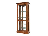 LivingStyles Mary New Zealand Pine Display Cabinet in Blackwood - 196x58cm