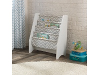 LivingStyles Kidkraft White Sling Bookshelf - Grey Pattern