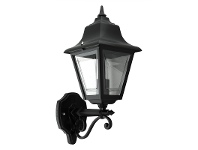 LivingStyles Italian Made Paris Aluminium IP43 Exterior Wall Light - Black