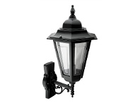 LivingStyles Italian Made Turin Large Aluminium IP43 Exterior Wall Light - Black