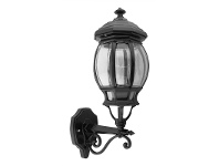 LivingStyles Italian Made Vienna Medium Aluminium IP23 Exterior Wall Light - Black
