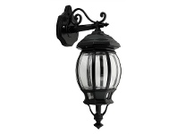 LivingStyles Italian Made Vienna Medium Aluminium IP23 Exterior Hanging Wall Light - Black