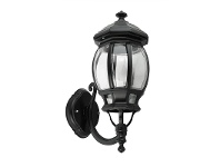 LivingStyles Italian Made Vienna Small Aluminium IP23 Exterior Wall Light - Black