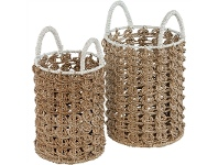 LivingStyles Neptune 2 Piece Woven Seagrass Basket Set