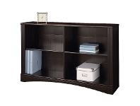 LivingStyles Cubic Low Bookcase, Cinnamon Cherry