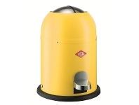 LivingStyles Wesco Single Master Steel 9L Disposal Bin - Lemon Yellow
