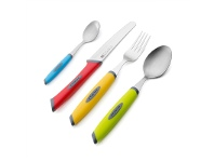 LivingStyles Scanpan Spectrum 16 Piece Everyday Cutlery Set - Multicolour
