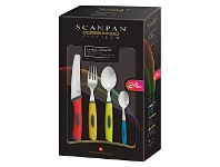 LivingStyles Scanpan Spectrum 24 Piece Everyday Cutlery Set - Multicolour
