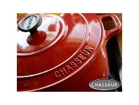 LivingStyles Chasseur Cast Iron Round French Oven, 22cm, Inferno Red