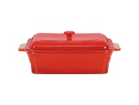 LivingStyles Chasseur La Cuisson 40x23cm Rectangular Baker with Lid - Red