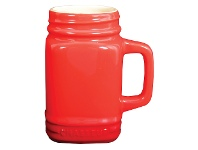 LivingStyles Chasseur La Cuisson Mason Jar Mug, 400ml, Red