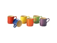 LivingStyles Chasseur La Cuisson 6 Piece 100ml Petit Cup Set - Assorted Colours