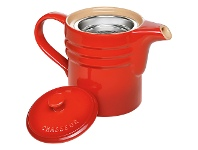 LivingStyles Chasseur La Cuisson Oil Dripping Jug with Strainer - Red