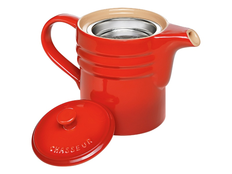 Chasseur La Cuisson Oil Dripping Jug with Strainer - Red