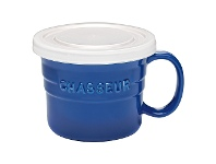LivingStyles Chasseur La Cuisson Soup Mug with Lid, 500ml, Blue