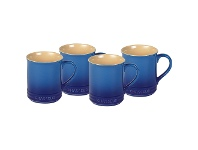 LivingStyles Chasseur La Cuisson 4 Piece 350ml Mug Set - Blue