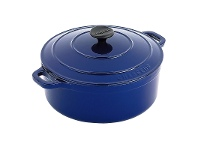 LivingStyles Chasseur Cast Iron Round French Oven, 22cm, French Blue