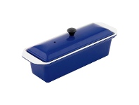 LivingStyles Chasseur Cast Iron Terrine, 28cm, French Blue