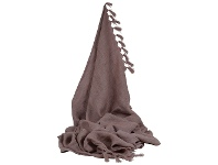 LivingStyles Camargue French Yarn Throw, Rose