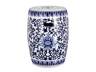 LivingStyles Ming Ceramic Decorative Stool