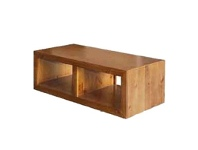 LivingStyles New Zealand Pine Cube Coffee Table in Blackwood - 118cm