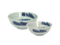 Cumulus Hand Painted 2 Piece Ceramic Bowl Set