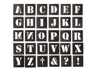LivingStyles Blaxcell 30 Piece Metal Letter Wall Art Set