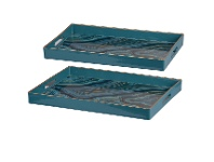 LivingStyles Saltia 2 Piece Rectangular Tray Set